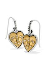 BRIGHTON JA6652 One Heart French Wire Earrings