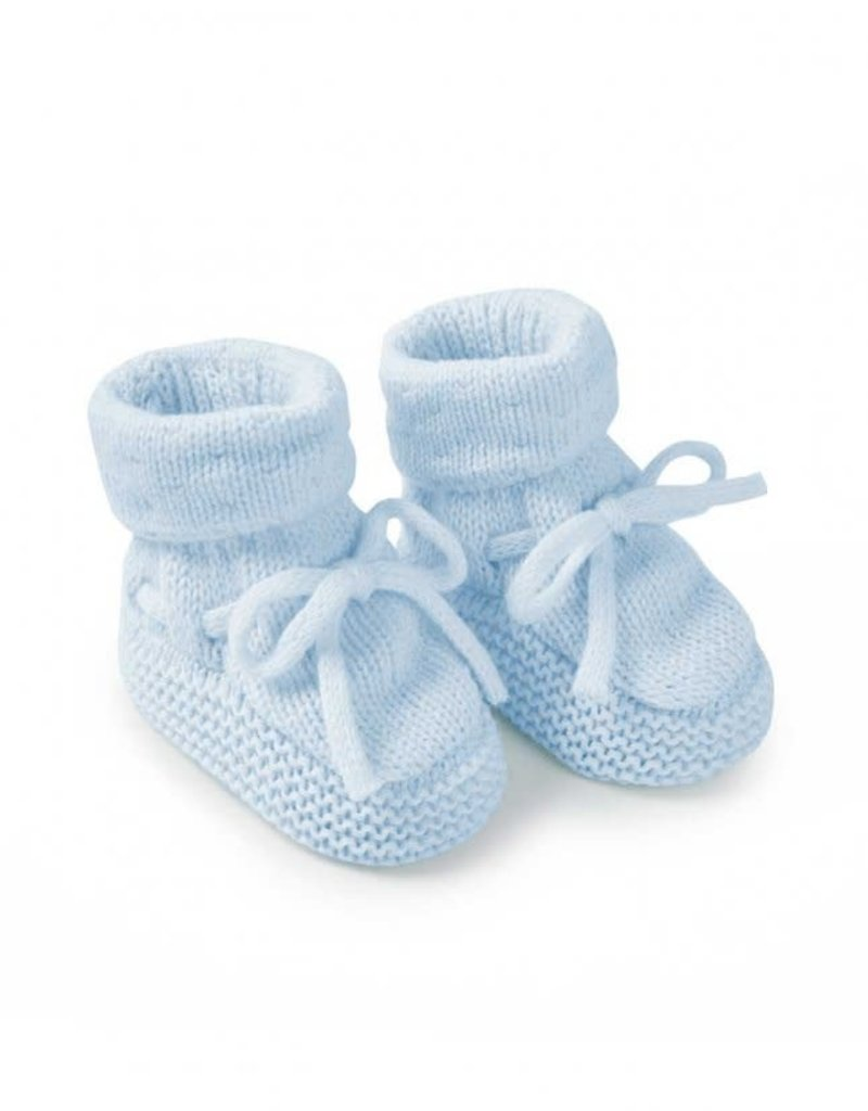 KATIE LOXTON BA0076 Knitted Baby Booties | Blue