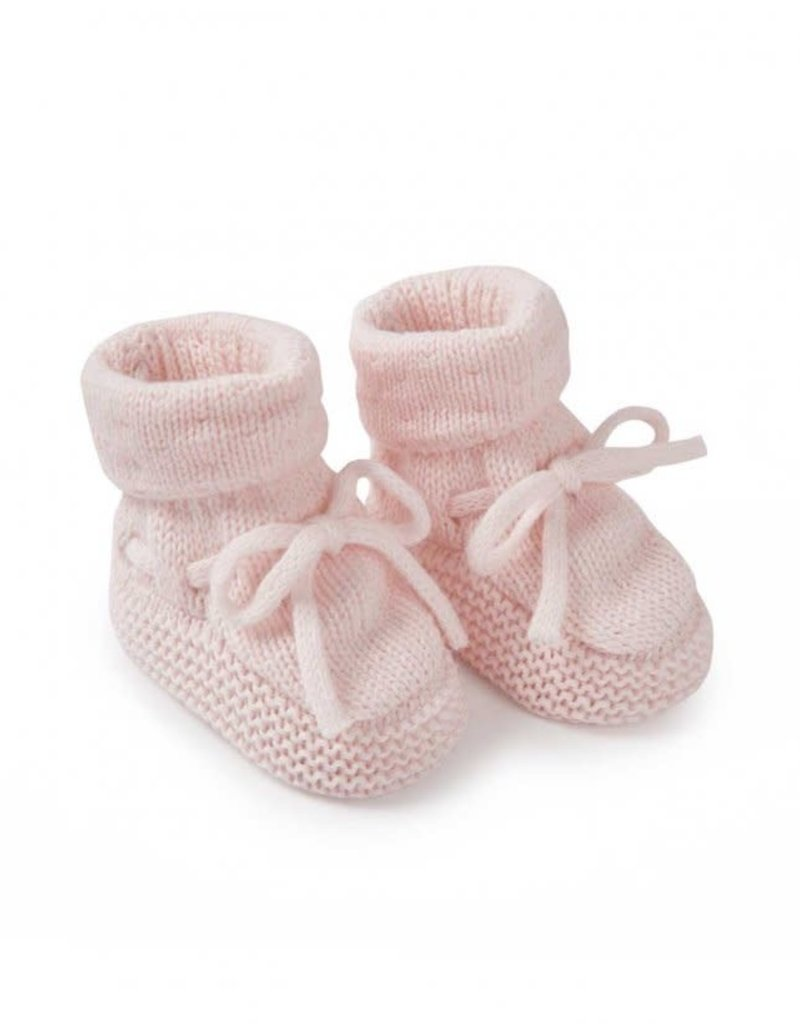 KATIE LOXTON BA0075 Knitted Baby Booties   Pink