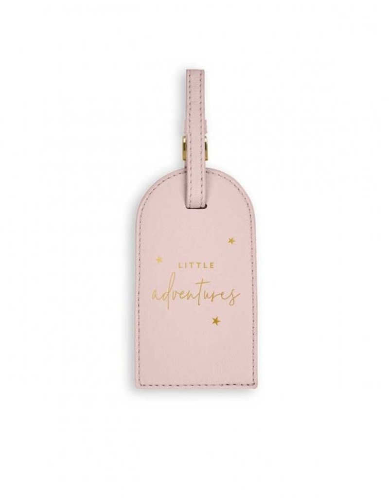 KATIE LOXTON BA0064 Baby Passport Holder and Luggage Tag Gift Set | Little Adventures | Pink