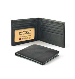 1231B THINFOLD RFID BLACK MEN'S WALLET