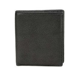 1216B RFID Bi-fold men's Wallet  BLACK