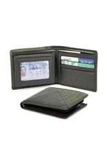 1322B WOVEN RFID ID PASSCASE BLACK