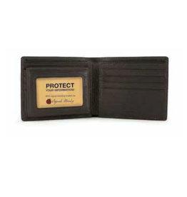 1232B RFID PASSCASE MEN'S WALLET BLACK