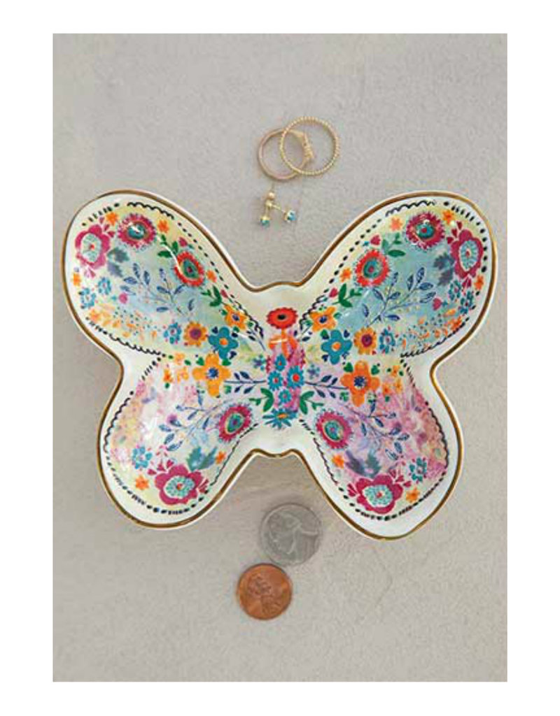 NATURAL LIFE DSH169 Trinket Bowl Butterfly