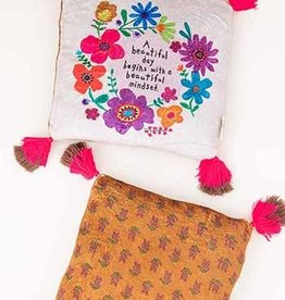 NATURAL LIFE PLW145 Beautiful Day Begins Cozy Chirp Pillow