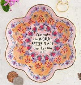 NATURAL LIFE DSH201 You Make The World Better Trinket Bowl