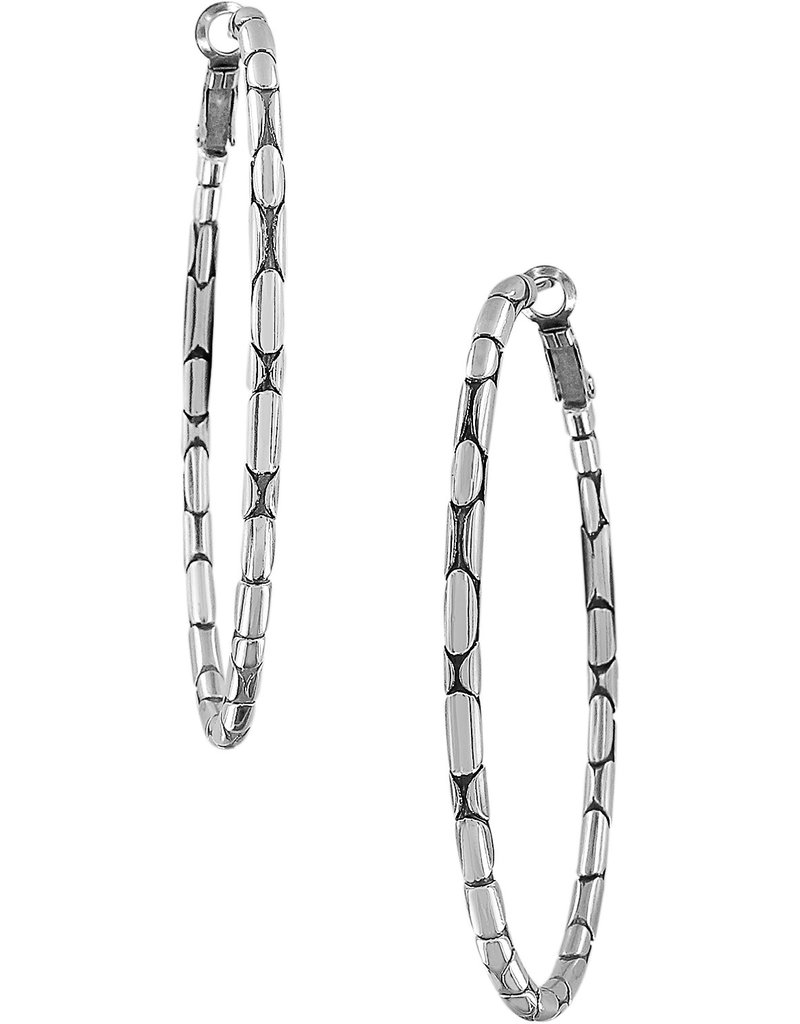BRIGHTON JA5400 PEBBLE LARGE OVAL HOOP EARRINGS