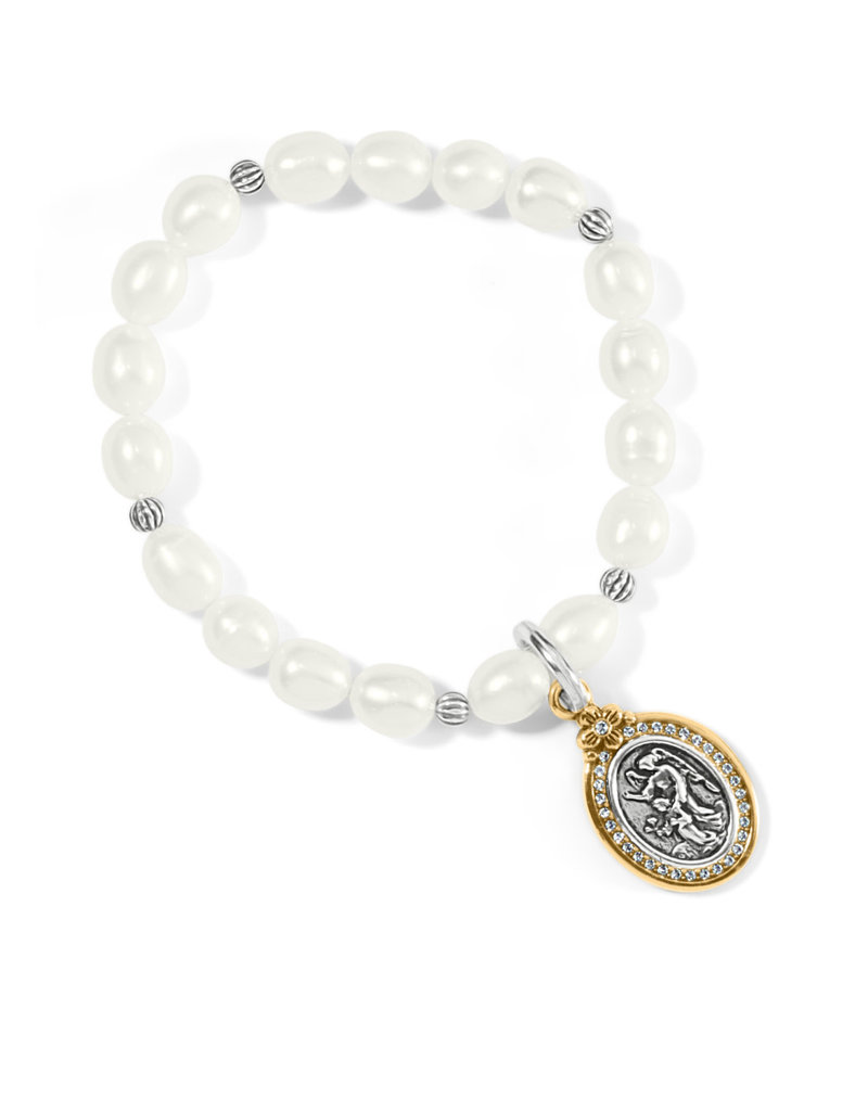 BRIGHTON JF8013 Guardian Angel Pearl Stretch Bracelet