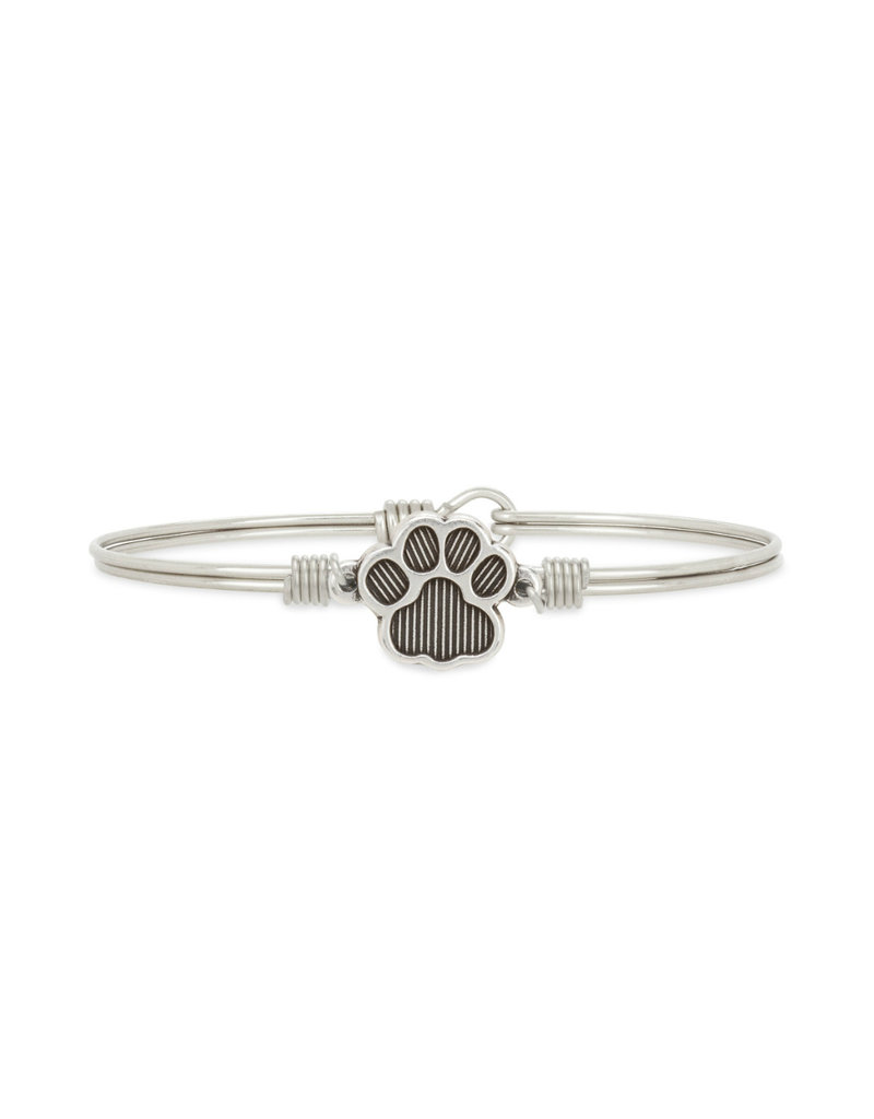 LUCA AND DANNI STC431S PAW PRINT ON SILVER WIRE WRAPPED BRACELET
