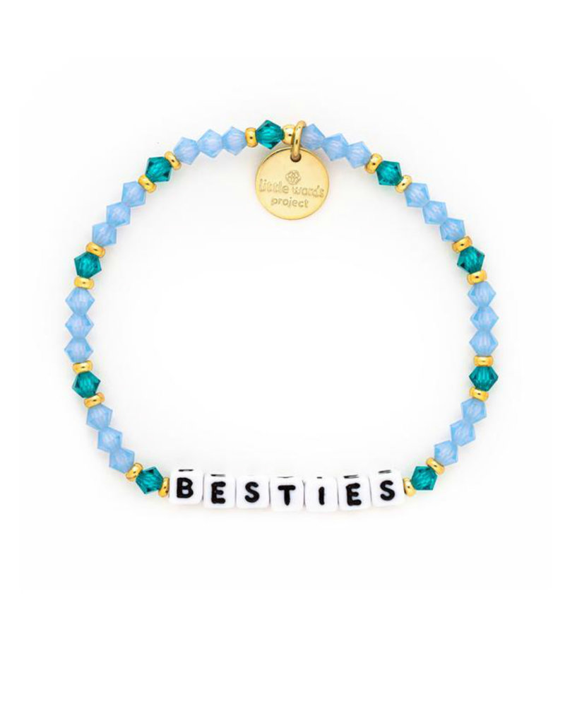 LITTLE WORDS PROJECT Besties - White -Best Friends Collection Bracelet