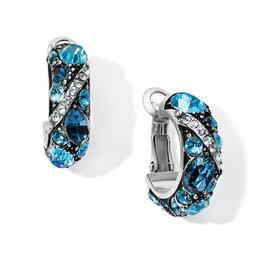BRIGHTON JA6373 Trust Your Journey Wave Hoop Earrings