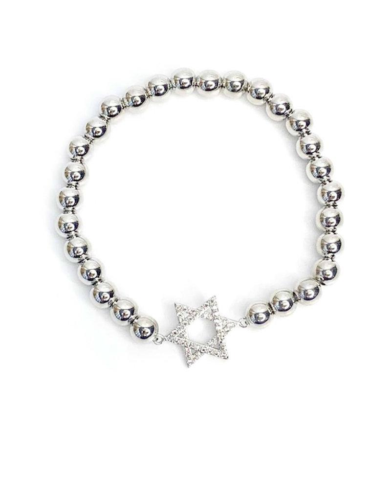 Hanukkah Bracelet: Silver