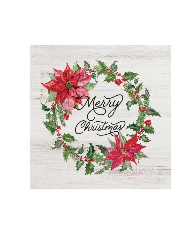 BHB0192 MERRY CHRISTMAS WORD BLOCK - 5.5X5.5