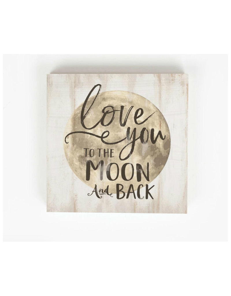 BHB0238 LOVE YOU TO THE MOON AND BACK WORD BLOCK - 5.5X5.5E