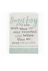 BHB0358 SWEET BOY YOU ARE MORE THAN WE EVER EXPECTED WORD BLOCK - 5.5X7.25