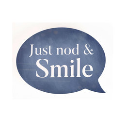 BUB0019 JUST NOD AND SMILE SHAPE - 5.75X4.25