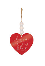 ORA0030LOVE YOU TO THE NORTH POLE AND BACK ORNAMENT - 3.5X3.25