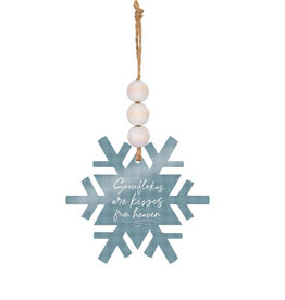 ORA0032 SNOWFLAKES ARE KISSES FROM HEAVEN ORNAMENT - 3.5X3
