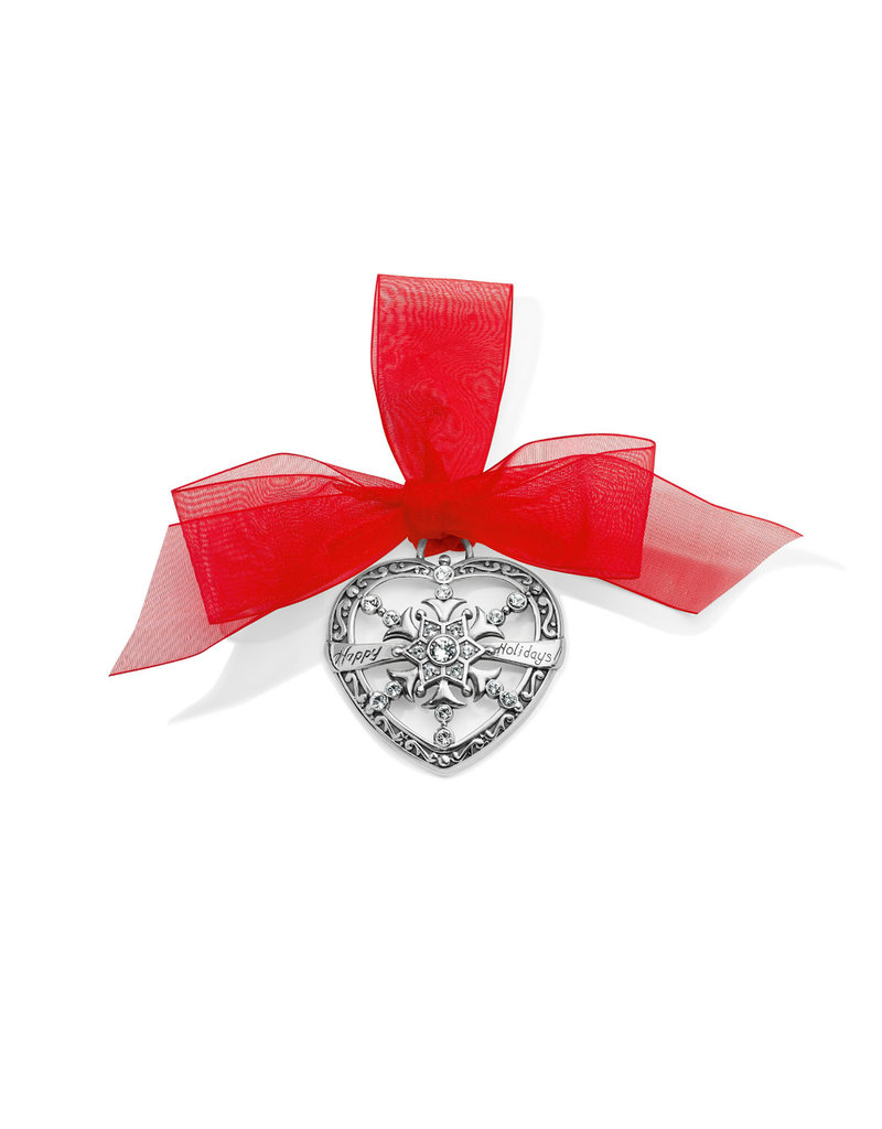 BRIGHTON G70830 HEART SNOWFLAKE ORNAMENT