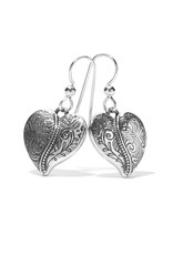BRIGHTON JA7170 Ornate Heart French Wire Earrings