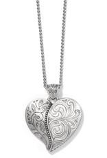 BRIGHTON JM3690 ORNATE HEART CONVERTIBLE NECKLACE