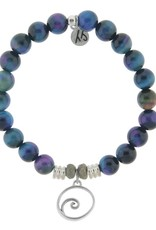 T JAZELLE TJ54637 INDIGO TIGERS EYE-WAVE