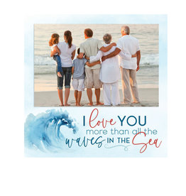 PHF0349 I LOVE YOU MORE THAN ALL THE WAVES IN THE SEA PHOTO FRAME - 7X7