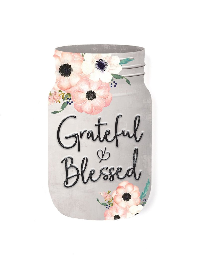 SAT0024 GRATEFUL AND BLESSED SHAPE - 3.5X6