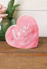 SHP0004 LOVE BINDS US TOGETHER SMALL SHAPE - 3.5X3.25