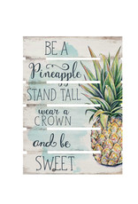 SKD0012 BE A PINEAPPLE ORNATE DECOR - 17X23.5