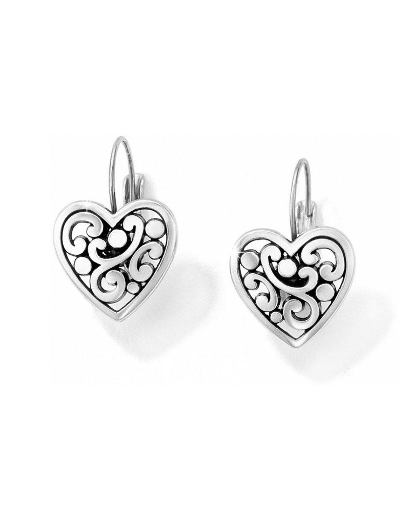 BRIGHTON J19870 Contempo Heart Leverback Earrings