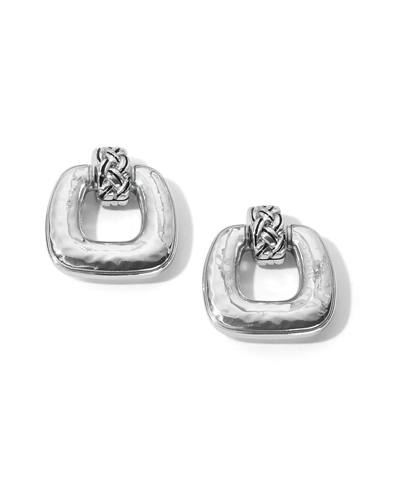 BRIGHTON JA7040 Interlok Woven Post Drop Earrings