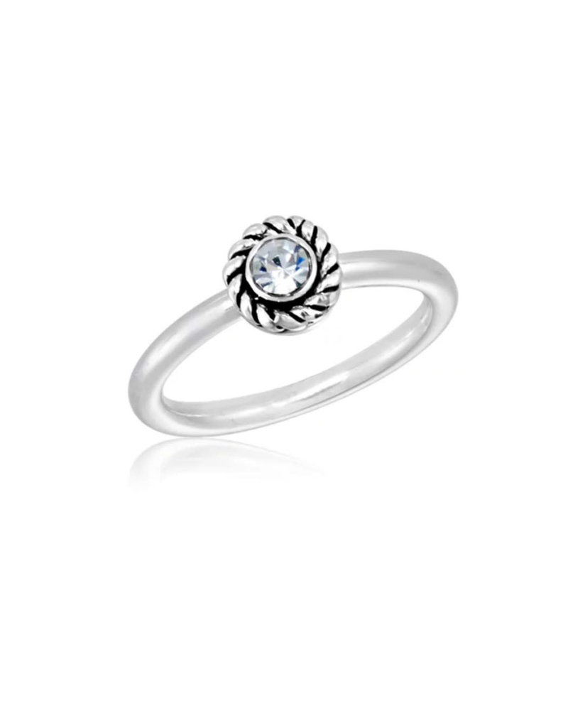 CZ Round Plain Stack Ring