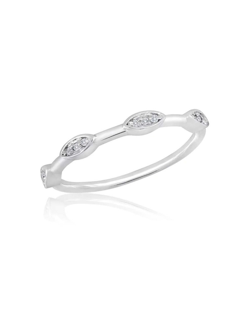 Spaced Oval Stack Ring