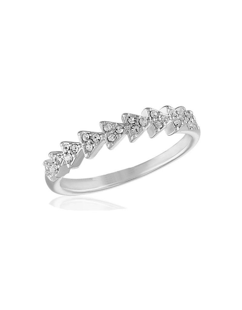 CZ Triangle Infinity Stack Ring