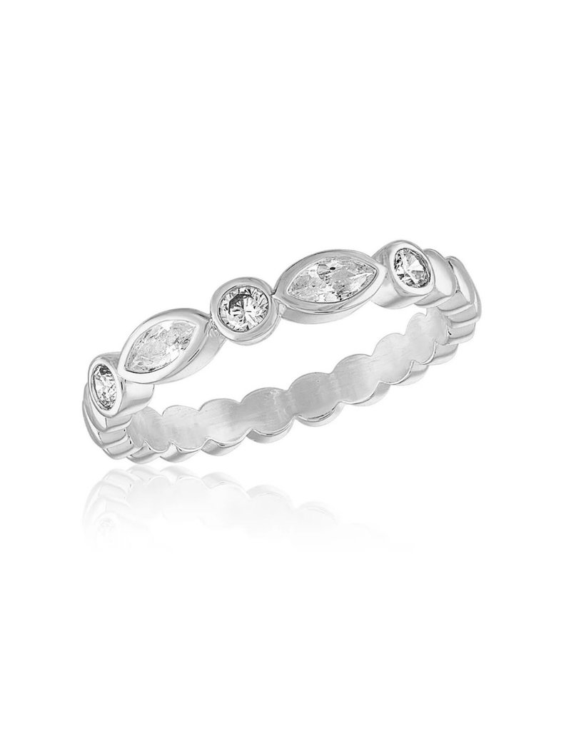 Endless Oval 2 Stack Ring