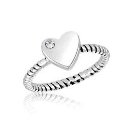 STK7 Heart CZ Stack Ring