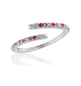 Thin Pink Diamond Open Stack Ring