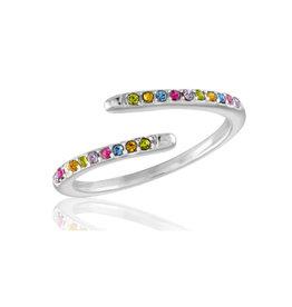 Thin Multi Diamond Open Stack Ring