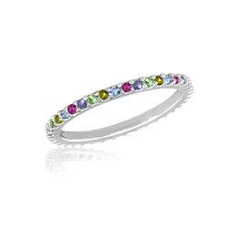 Thin Multi Diamond Stack Ring