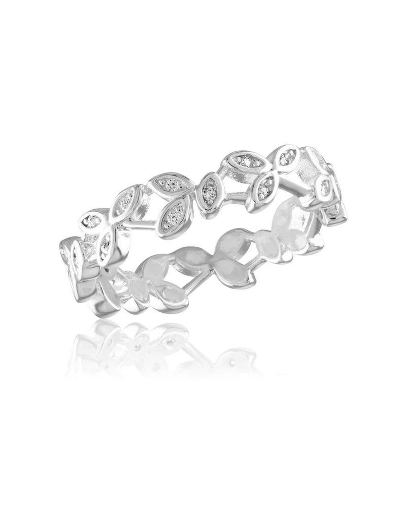 Diamond Vine Infinity Stack Ring