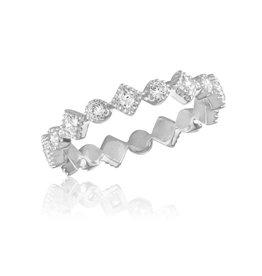 Diamond CZ Infinity Stack Ring