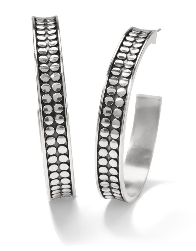 BRIGHTON JA7060 Pebble Dot Medium Hoops