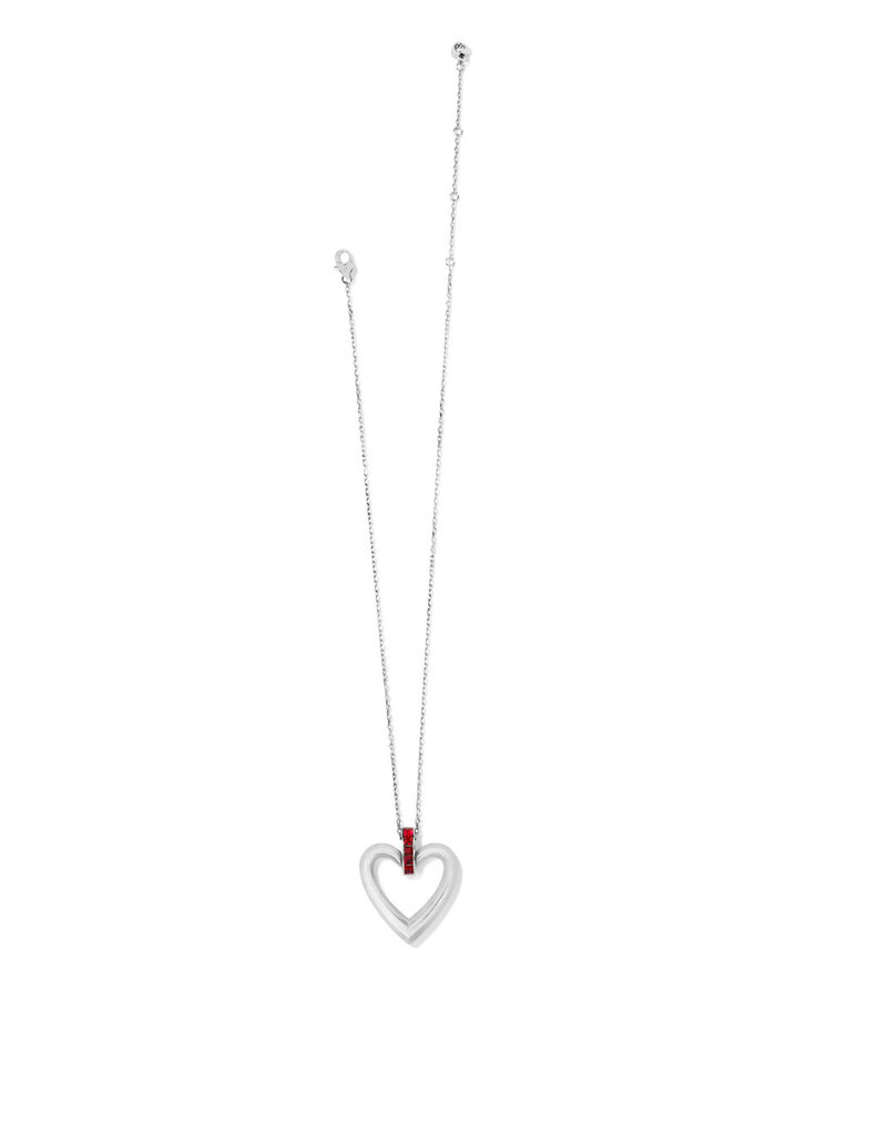 BRIGHTON JM3673 SPECTRUM OPEN HEART NECKLACE