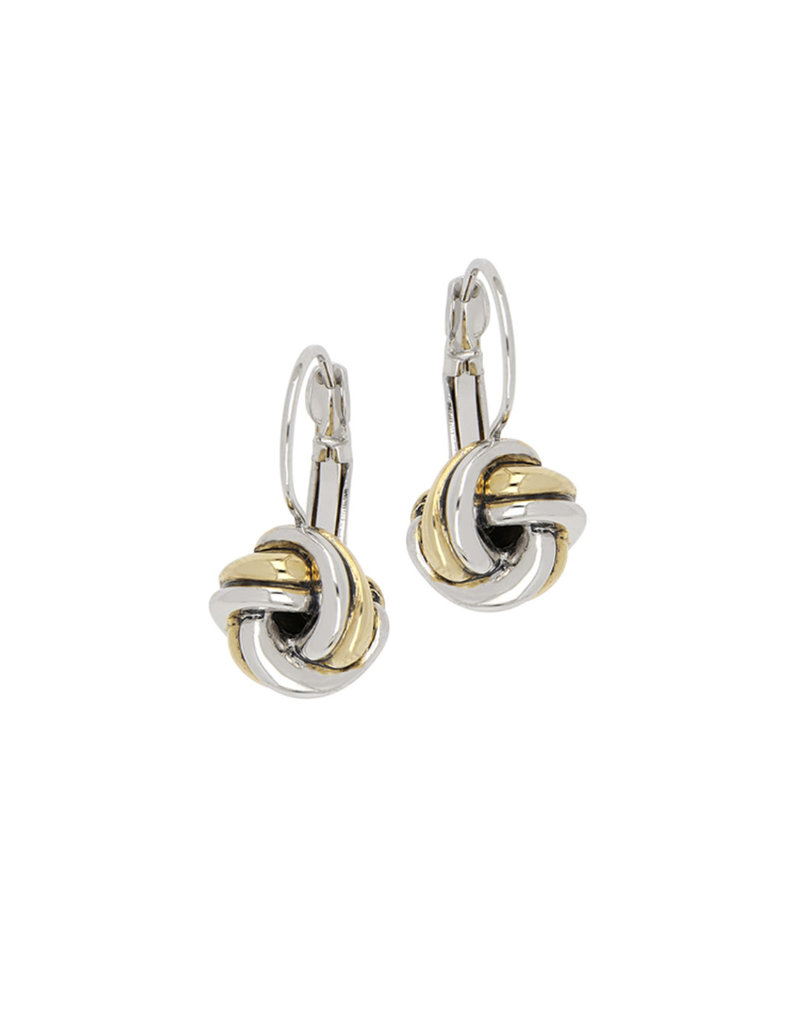 JOHN MEDEIROS F5277-A000 Infinity Knot Two Tone French Wire Earrings
