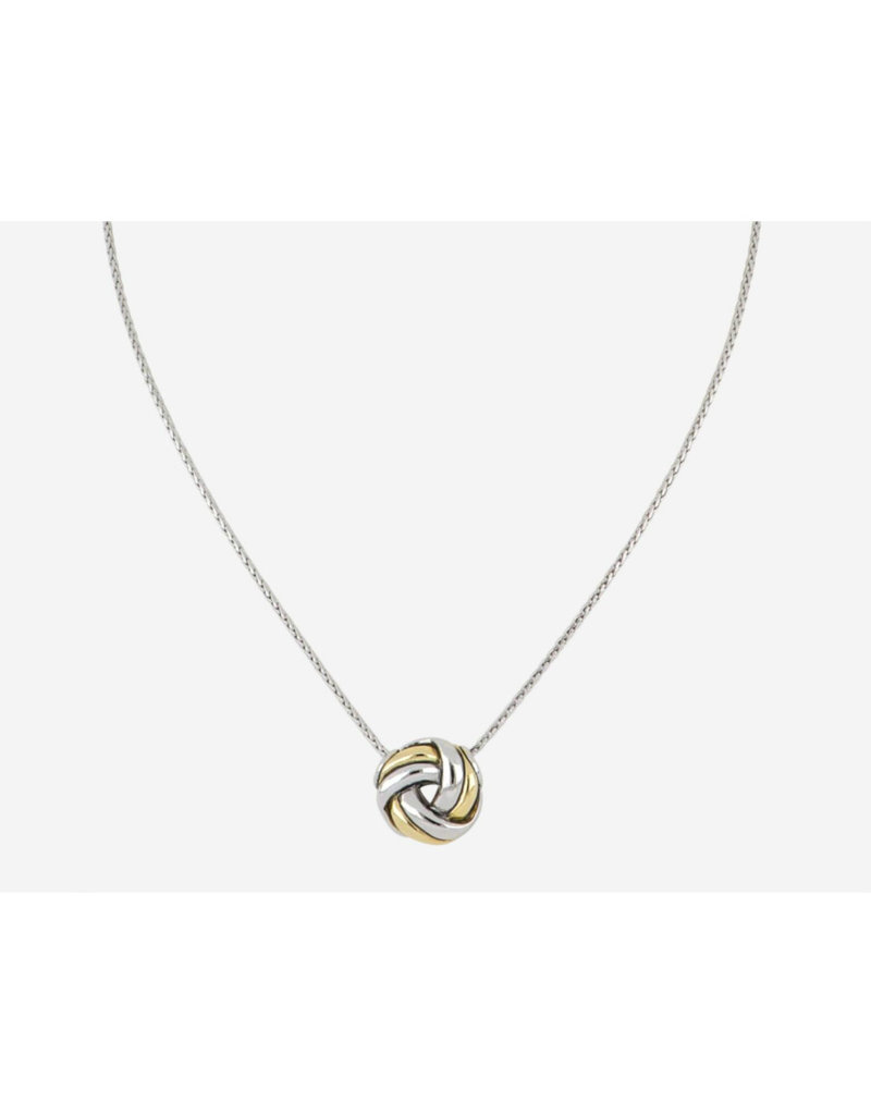 JOHN MEDEIROS K5276-A003 Infinity Knot Two Tone Slider Necklace