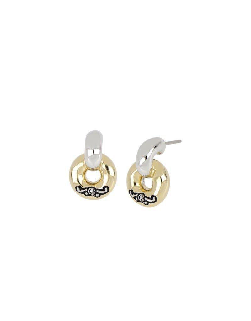 JOHN MEDEIROS M5198-A000 Ciclo D'Amor Petite Two Tone Post Earrings
