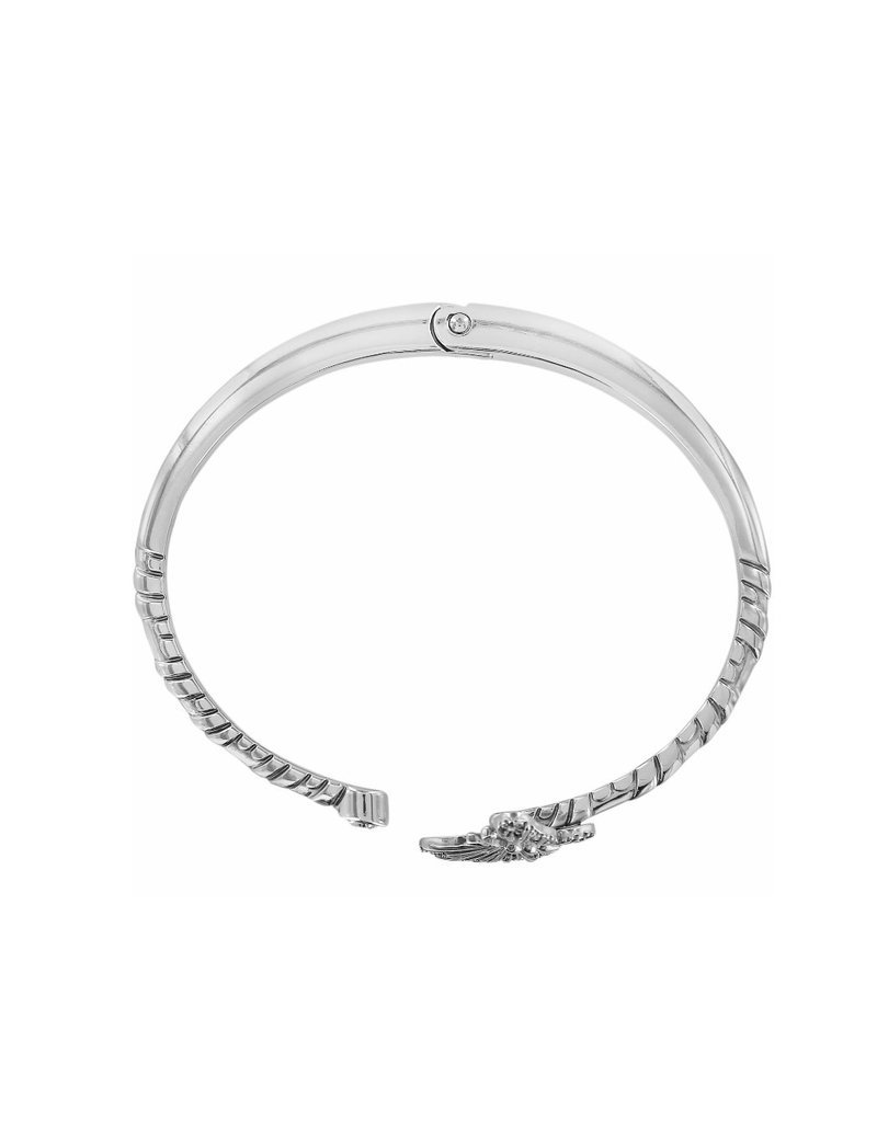 BRIGHTON JF5901 SOLSTICE BUTTERFLY HINGED BANGLE