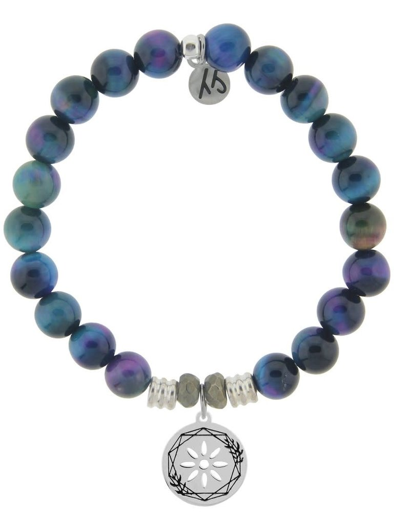 T JAZELLE TJ54593 INDIGO TIGERS EYE-THANK YOU